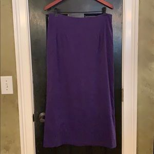 Briggs NY purple maxi skirt 12
